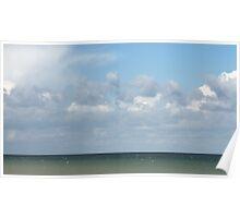 Ocean & Sky, Walcott Beach, Norfolk, England Poster
