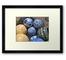 A BOWL OF BALLS Framed Print