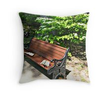 Time For Relaxing Fun At the Park Throw Pillow