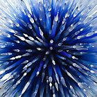 Abstract Blue by Sherry Hallemeier