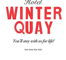 Winter Quay Hotel (on white) by greenfinch