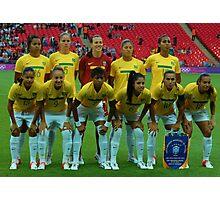 Brazil Womens Olympic Football Team Photographic Print