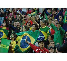 Brazil fans at Wembley  Photographic Print