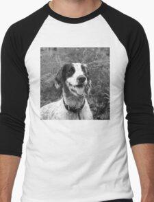 Dog portrait, spaniel in bracken Men's Baseball ¾ T-Shirt