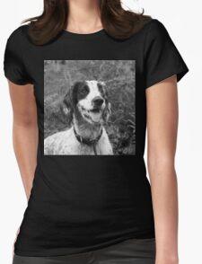 Dog portrait, spaniel in bracken Womens Fitted T-Shirt