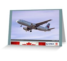 Air Canada Airbus 320 Greeting Card