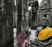 Purple and Gold, Cambodia by Michael Treloar