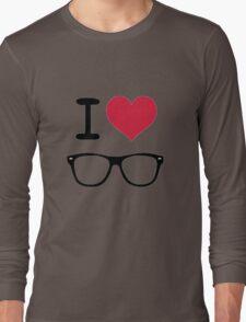 hipster love Long Sleeve T-Shirt