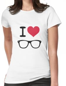 hipster love Womens Fitted T-Shirt