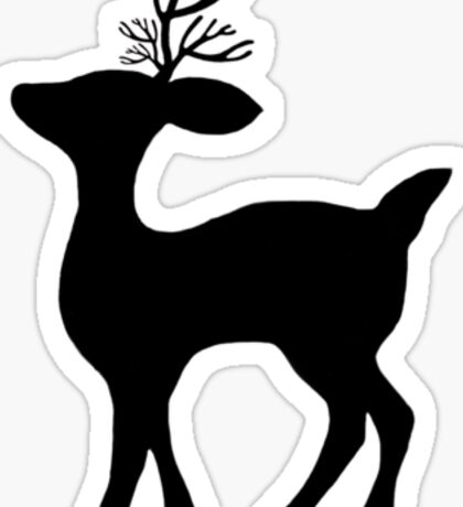deer silhouette Sticker