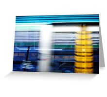 Reflection In Train Window Greeting Card