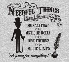 Mr. Needful Shirt (Black Print) Kids Tee