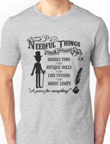 Mr. Needful Shirt (Black Print) Unisex T-Shirt