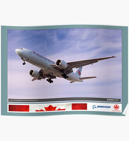 Air Canada Boeing 777 Poster