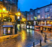 056 Chester At Night by George Standen