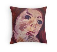 A self portrait, watercolor Throw Pillow