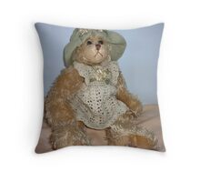 Christine Bear - dressed for Party  Throw Pillow