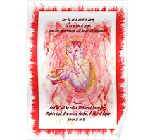 INCARNATION  Bible text  Christmas card or poster! Poster