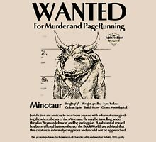 Wanted minotaur Unisex T-Shirt