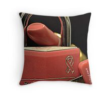 Breast Cancer Awareness Cure Throw Pillow