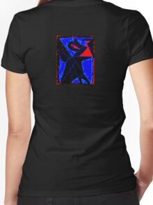 Red Eye Women's Fitted V-Neck T-Shirt