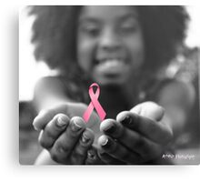 Breast Cancer Awareness Cure2 Metal Print