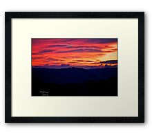 When the new day comes. by Andrzej Goszcz. Framed Print