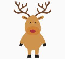 cute reindeer Kids Tee