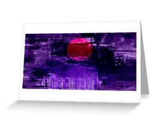 Purple Sunset Abstract Painting #2 Greeting Card