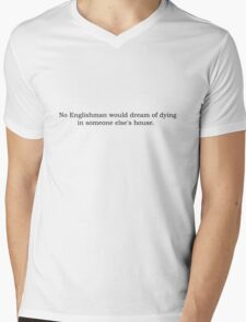 Downton Abbey best quotes series #1 Mens V-Neck T-Shirt