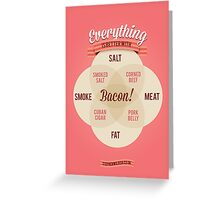 Everything is better with Bacon Greeting Card