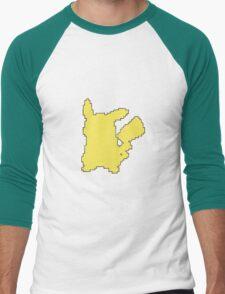 Pikachu Yellow Silhouette Outline T-Shirt