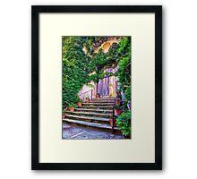 Entering Into Paradise Villa Cimbrone Framed Print