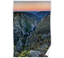 Bungonia Gorge Moonrise Sunset Poster