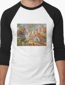 Epic Dinosaur Laser Battle Men's Baseball ¾ T-Shirt