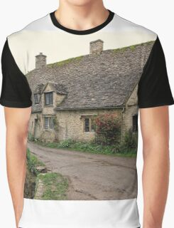 Pretty Cottages All in a Row Graphic T-Shirt
