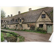 Pretty Cottages All in a Row Poster