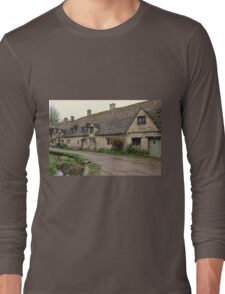 Pretty Cottages All in a Row Long Sleeve T-Shirt