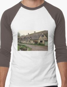 Pretty Cottages All in a Row Men's Baseball ¾ T-Shirt