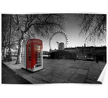 Old Phone box Poster