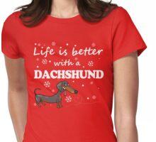 Dachshund_Better Womens Fitted T-Shirt