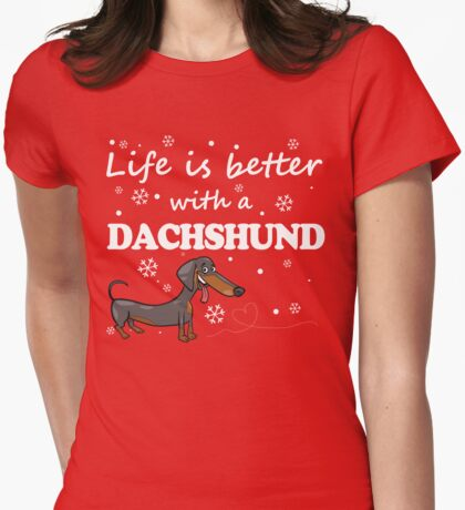 Dachshund_Better Womens Fitted T-Shirt