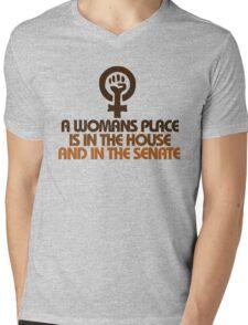 A womans place Mens V-Neck T-Shirt