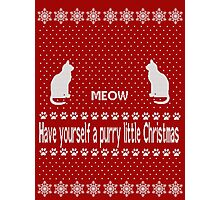 Have yourself a purry little Christmas Photographic Print