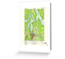 USGS Topo Map Washington State WA Olympia 242945 1949 62500 Greeting Card