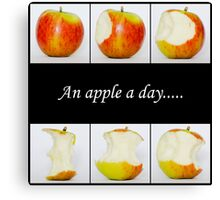 Apples - an apple a day..... Canvas Print