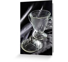 la beauté du verre Greeting Card