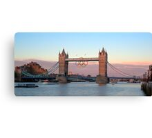 HDR of London Bridge During the London 2012 Games Canvas Print