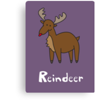 R for Reindeer Canvas Print