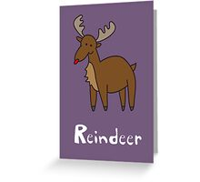 R for Reindeer Greeting Card